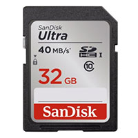 SanDisk 32GB Ultra SD Class 10 / UHS-1 Flash Memory Card