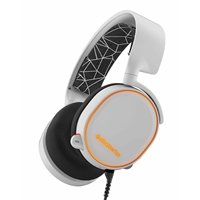 SteelSeries Arctis 5 Surround Sound Gaming Headset- White