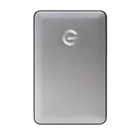 HGST G-DRIVE Mobile 1TB USB-C Hard Drive - Silver