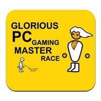 American Covers PC Master Race Mousepad - Yellow