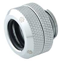 """Bitspower G 1/4"""" Enhanced Straight Compression Fitting - Silver"""