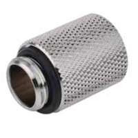 "Bitspower G 1/4"" 20mm Male to Female Extender - Silver"