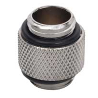 """Bitspower G 1/4"""" Male to Male Fitting - Silver"""