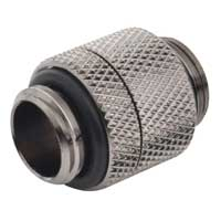"""Bitspower G 1/4"""" Male to Male Rotary Extender Fitting - Black Sparkle"""