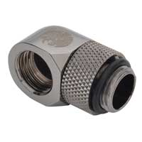 Bitspower G1/4 90 Degree Dual Rotary Adapter Black Sparkle