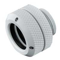 """Bitspower G 1/4"""" OD Enhanced Straight Compression Fitting - Deluxe White"""