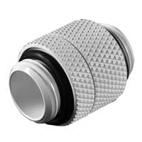 """Bitspower G 1/4"""" Male to Male Rotary Extender Fitting - Deluxe White"""