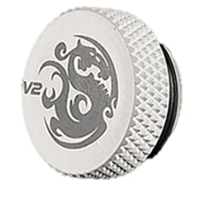 """Bitspower G 1/4"""" Plug Fitting with O-Ring - Deluxe White"""