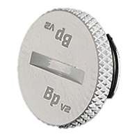 """Bitspower G 1/4"""" Plug Fitting with O-Ring - White"""