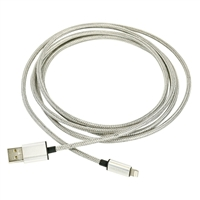 Fuse Chicken 2-meter Armour Charge Stainless Steel Lightning Cable
