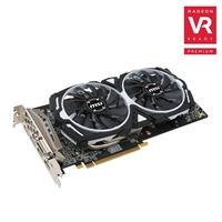 MSI Radeon RX 480 ARMOR Overclocked 8GB GDDR5 Video Card
