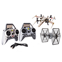 Spin Master Air Hogs Star Wars X-wing vs. TIE Fighter Drone Battle Set