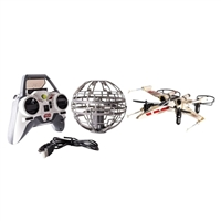 Spin Master Air Hogs X-wing vs Death Star Drone Set