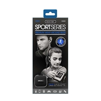 Sentry Industries H5003 Sport Series Premium Wrap-Around Earbuds w/ Mic - Black