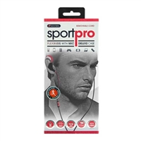 Sentry Industries H5001 Sport Pro Wrap-Around Earbuds w/ Mic - Red