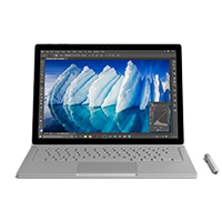 "Microsoft Surface Book with Performance Base 13.5"" 2-in-1 Laptop Computer - Silver"