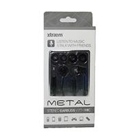 Sentry Metal Stereo Earbuds w/ Mic - Black