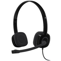 Logitech (Refurbished) H151 Stereo Headset - Black