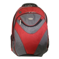 "Eco Style Sports Vortex Backpack Fits Screens up to 16.1"" - Red"