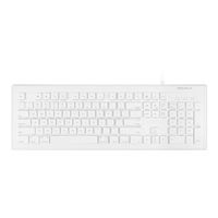 MacAlly 103 Key Full-Size USB Keyboard with Short-Cut Keys - White