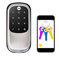 Yale Real Living Assure Lock with Bluetooth - Satin Nickel