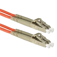 QVS LC to LC Multimode Fiber Duplex Patch Cable 23 ft. - Orange