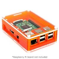 Pimoroni Pibow 3 Enclosure for Raspberry Pi 3/2/B+ - Tangerine