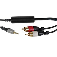 MCM Electronics Ground Loop Isolator 3.5mm to Dual-RCA
