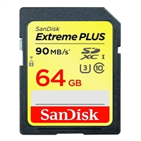 SanDisk 64GB Extreme Plus SDXC / UHS-1 Flash Memory Card