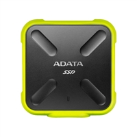 ADATA SD700 Ruggedized 256GB External Solid State Drive - Yellow