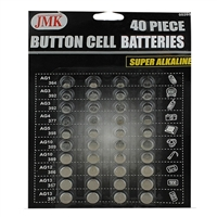 JMK-IIT Assorted Button Cell Batteries 40-Piece