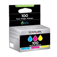 Lexmark 100 Color Return Program Ink Cartridge 3-Pack