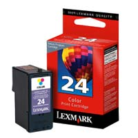 Lexmark 18C1524 #24 Color Return Program Ink Cartridge