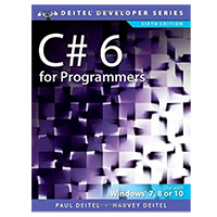 Pearson/Macmillan Books C# 6 for Programmers, 6th Edition