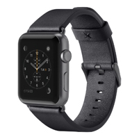 Belkin 42mm Classic Leather Band for Apple Watch - Black