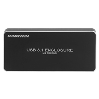 Kingwin USB 3.1 Gen 2 Type-C to Dual M.2 NGFF B Key SSD External Hard Drive Enclosure