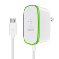 Belkin Home Charger with wired micro-usb cable ,12 Watts, 6 ft., White