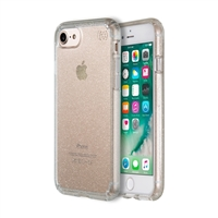 Speck Products Presidio Clear+Glitter Case for iPhone 7 - Clear/Gold Glitter