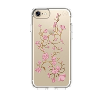 Speck Products Presidio Clear+Print Case for iPhone 7 - Golden Blossoms Pink/Clear