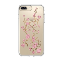 Speck Products Presidio Clear+Print Case for iPhone 7 Plus - Golden Blossoms Pink/Clear