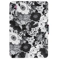 Speck Products StyleFolio Case for iPad Mini 4 - Vintage Bouquet Gray/Boysenberry Purple