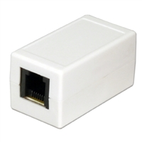 QVS RJ-12 Female to RJ-45 Female Coupler - White