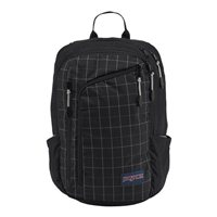 "Jansport Platform Backpack fits up to 15"" - Black Reflective Grid"