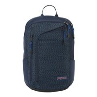 "Jansport Platform Laptop Backpack fits up to 15"" - Navy/ Square Static"