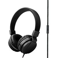 Inland Wired Headphone w/ Mic - Black