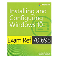 Pearson/Macmillan Books Exam Ref 70-698 Installing and Configuring Windows 10, 1st Edition