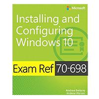 Pearson/Macmillan Books Exam Ref 70-698 Installing and Configuring Windows 10, 1st Edition