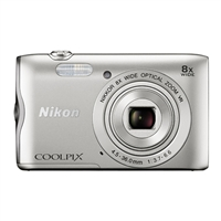 Nikon A300 Coolpix 20.1 Megapixel Digital Camera - Silver
