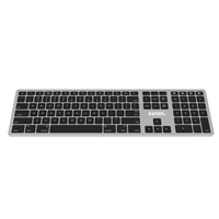 Kanex MultiSync Rechargeable Keyboard - Silver/Black