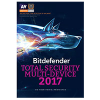 Bitdefender Total Security Multi-Device 2017 - 5 Devices, 1 Year (PC/Mac)